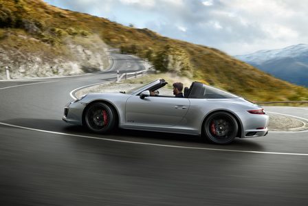 The new 911 Targa 4 GTS. Driven for more.